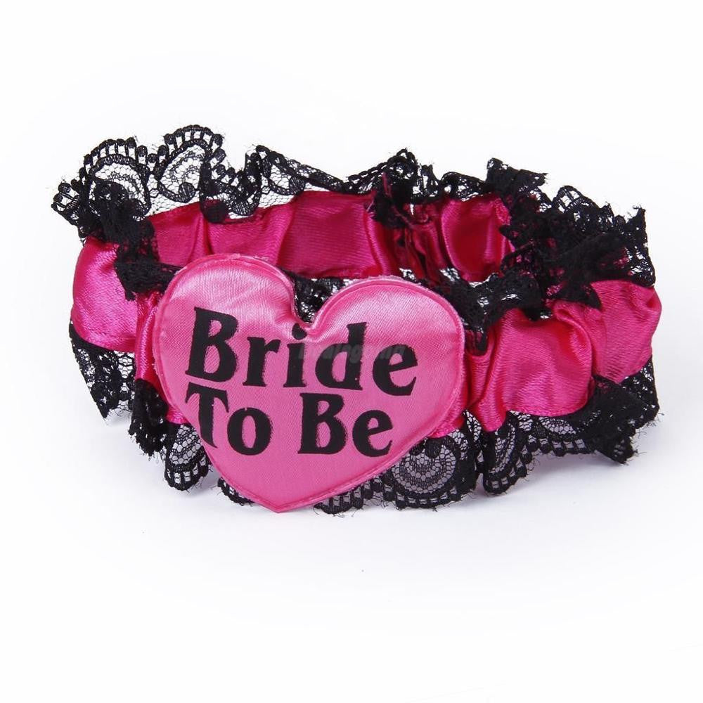 Sweet Bride to be ribbon garters wedding party favor Bachelorette supplies hen night,  - Avenue Of Angels