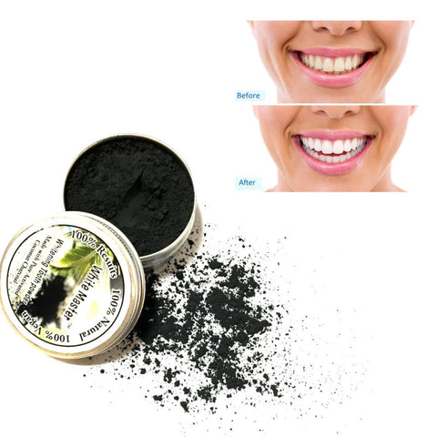 Pure Coco Tooth Whitening Powder with Activated Charcoal Teeth