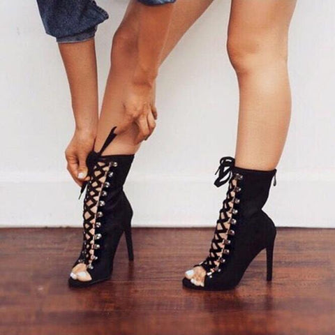 Gladiator Geneva Stiletto Sandal Booties
