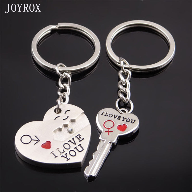 Romantic Love Heart Key Chains Trinket For Couple - Thoughtful Valentines Day Gift