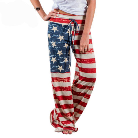 Patriot Wide Leg American Flag Pant