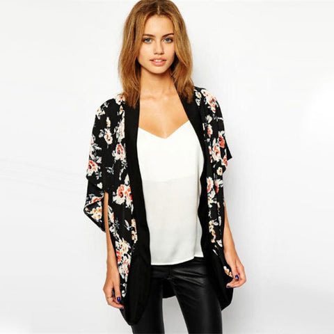 Floral Chiffon Japanese Kimono,  - Avenue Of Angels