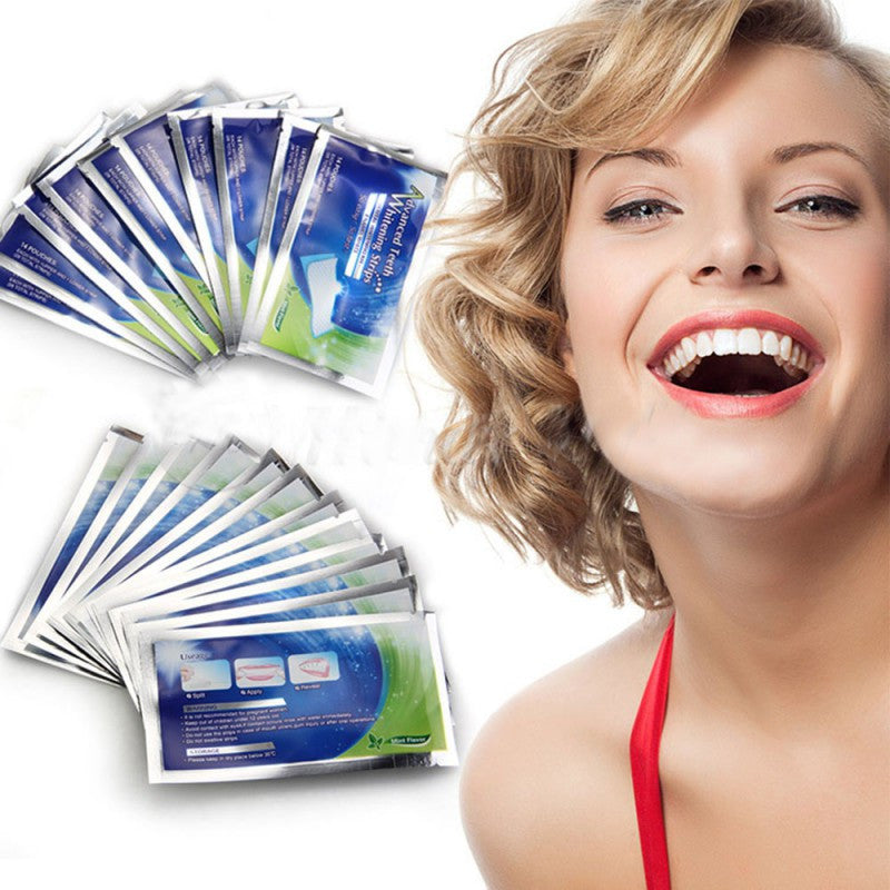 14 Pairs of Teeth Whitening Strips  Professional Teeth Whitening Products Gel Strips,  - Avenue Of Angels