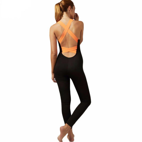 Backless One-piece Yoga Jumpsuit,  - Avenue Of Angels