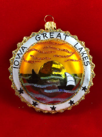 Iowa Great Lakes Ornament - 2017
