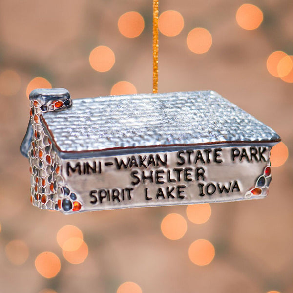 Mini-Wakan State Park Shelter Ornament - retired