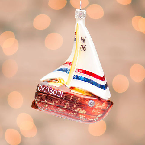 Okoboji Sailboat Ornament