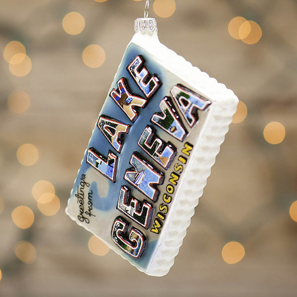 Lake Geneva Postcard Ornament - 2015