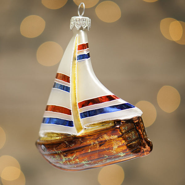 Lake Geneva Sailboat Ornament