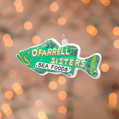 Fish O'Farrell Sisters Sea Foods Ornament