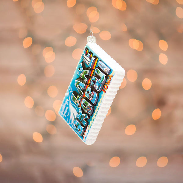 Lake Okoboji Postcard Ornament - available in 2020