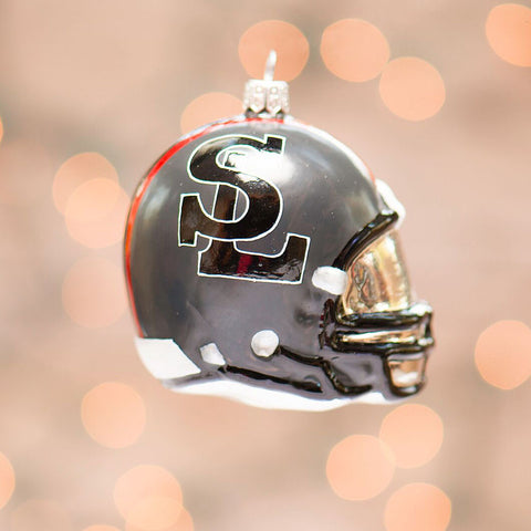 Spirit Lake Indians Helmet Ornament - 2013
