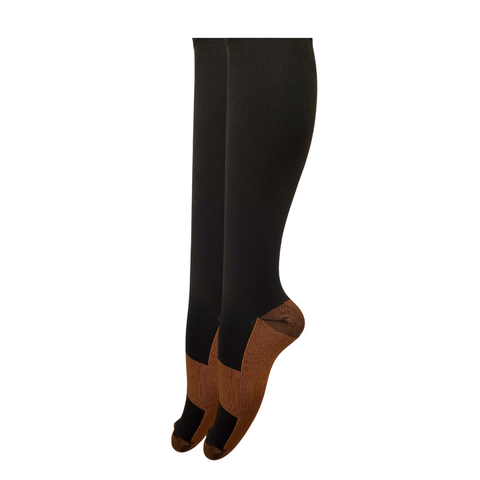 Black Copper Infused Compression Socks