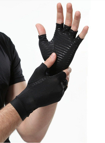 Copper Infused Compression Half Finger Gloves