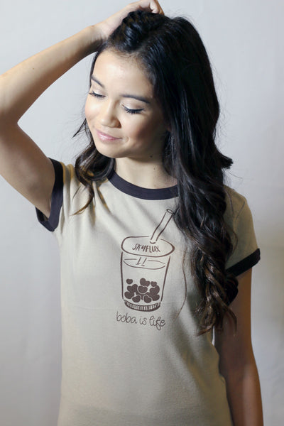 Boba T Shirt - Boba Tee with Heart Shaped Boba
