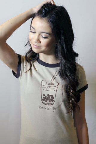 Boba T-Shirt with Heart Shaped Boba