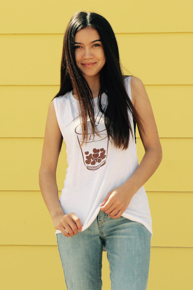 Boba Muscle Tee Style Tank Top