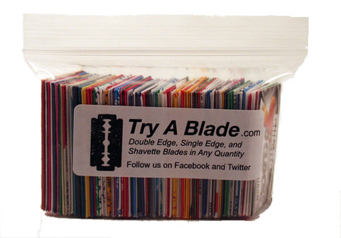 Super Double Edge Razor Blade Sampler - 112 Blades