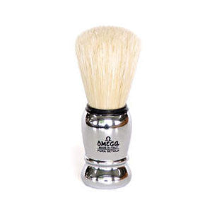 Omega - Boar Shaving Brush - Chromed ABS - 10083