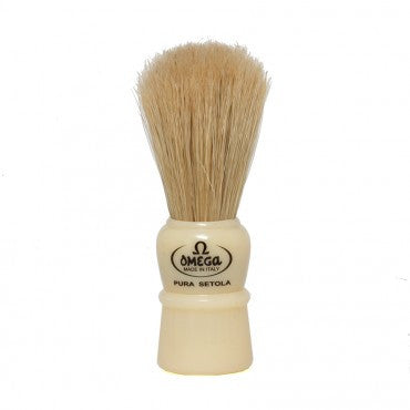Omega - Boar Shaving Brush - Cream Handle - 10086C