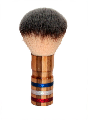 Handmade - Red, White, and Blue - Butternut Maple - Shaving Brush