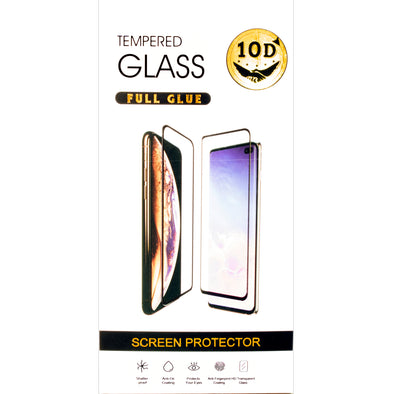 Samsung T510/T515 10D Black Tempered Glass Screen Protector In Retail Packaging