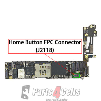 iPhone 6 Home Button Extended Connector Port Onboard (J2118)