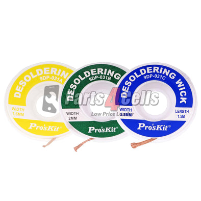 Desoldering Wire BGA Desoldering Wick Copper #Pros'Kit 9DP-031A 1.5mm*1.5m