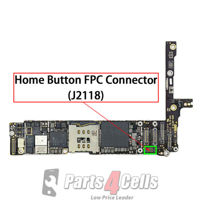 iPhone 6 Plus Home Button Extended Connector Port Onboard (J2118)