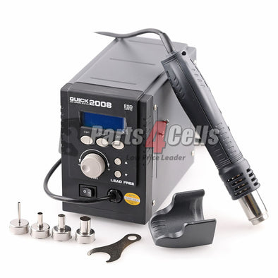 QUICK 2008 ESD Digital Display Heat Gun Welding Rework Soldering Station - 110V w/ US Extra Adapter
