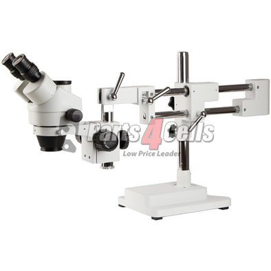 SZM7045-STL2 Double Arm Boom Trinocular Stereo Zoom Industrial Microscope with LED Lights - 45X