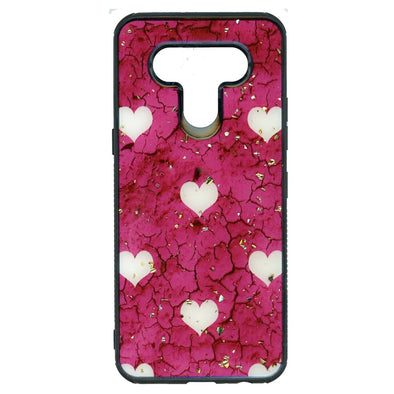 SAFIRE iPhone 7 Plus / 8 Plus Marble w/ Hearts Case Hot Pink