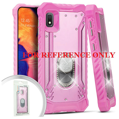 SAFIRE Samsung A21 2020 A215 Magnetic Rugged Bling w/ Kickstand Pink