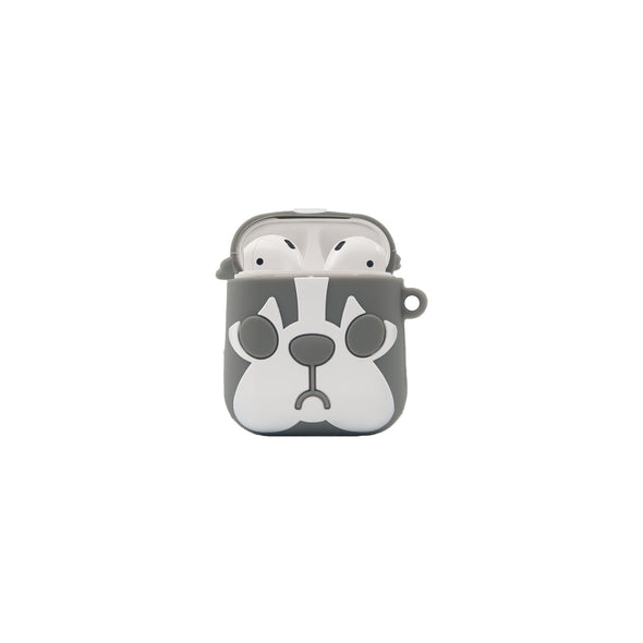 Airpods Case Pitbull Grey & White