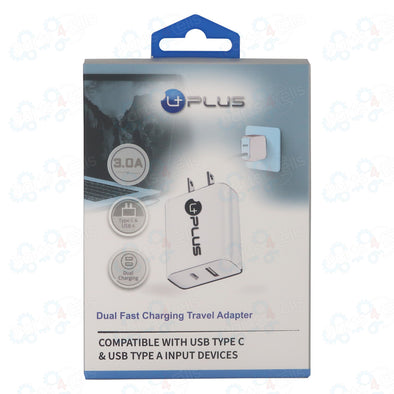 Fast Charging Dual Adapter 3.0A Uplus (Only Adapter)