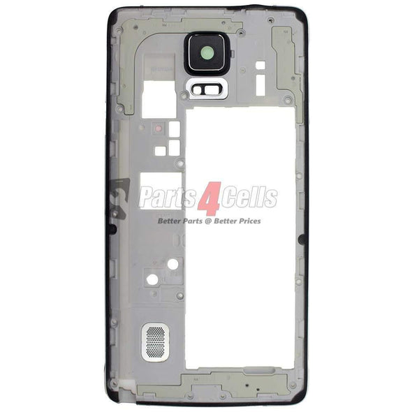Samsung Note 4 Mobile Middle Frame GSM Black-Parts4sells