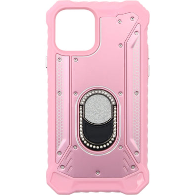 SAFIRE iPhone 11 Pro Magnetic Rugged Bling w/ Kickstand Case Pink