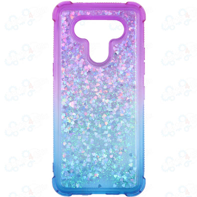 SAFIRE LG K51 Water Glitter Case Blue & Purple