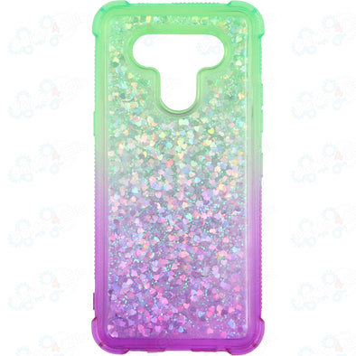 SAFIRE LG K51 Water Glitter Case Green & Purple
