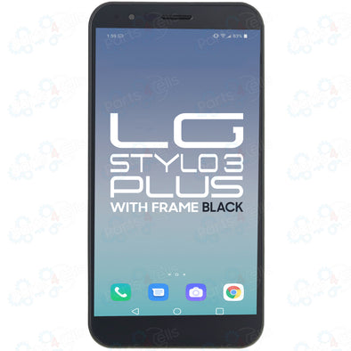 LG Stylo 3 Plus LCD with Touch + Frame Black