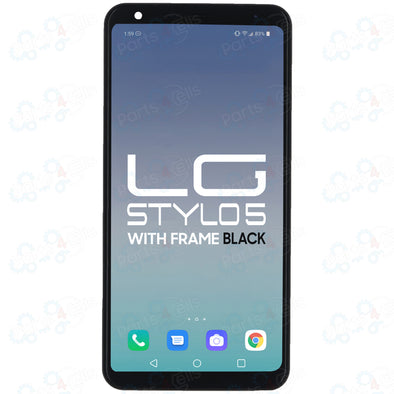 LG Stylo 5 LCD with Touch + Frame Black