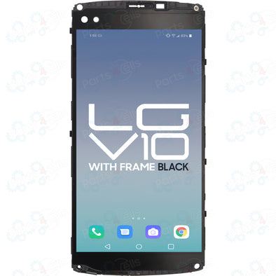 LG V10 H900 LCD With Touch + Frame Black