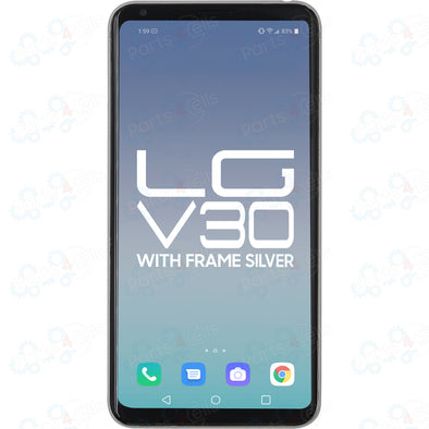 LG V30 LCD With Touch + Frame Silver