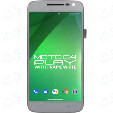 Motorola Moto G4 Play LCD with Touch + Frame White XT1607