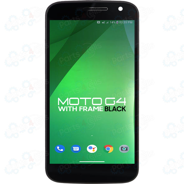 Motorola Moto G 4th Gen LCD with Touch + Frame Black XT1625