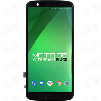 Motorola Moto G6 LCD with Touch + Frame Black XT1925