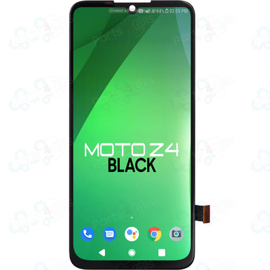 Motorola Moto Z4 LCD with Touch Black XT1980-3, XT1980-4 Version 2 (Flat)