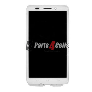 Motorola XT1080 Droid Ultra/Droid Maxx LCD Screen Display With Touch + Frame White-Parts4sells