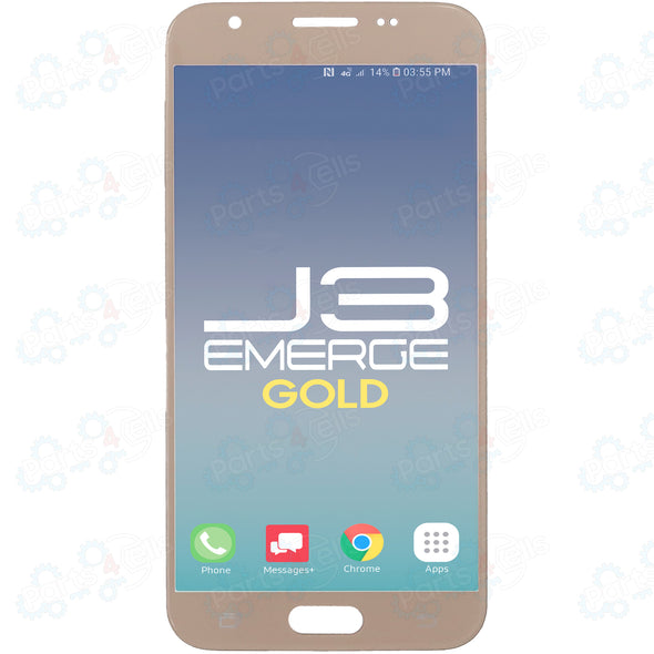 Samsung J3 Emerge LCD With Touch Gold