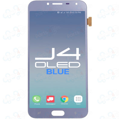 Samsung J4 LCD With Touch OLED Blue
